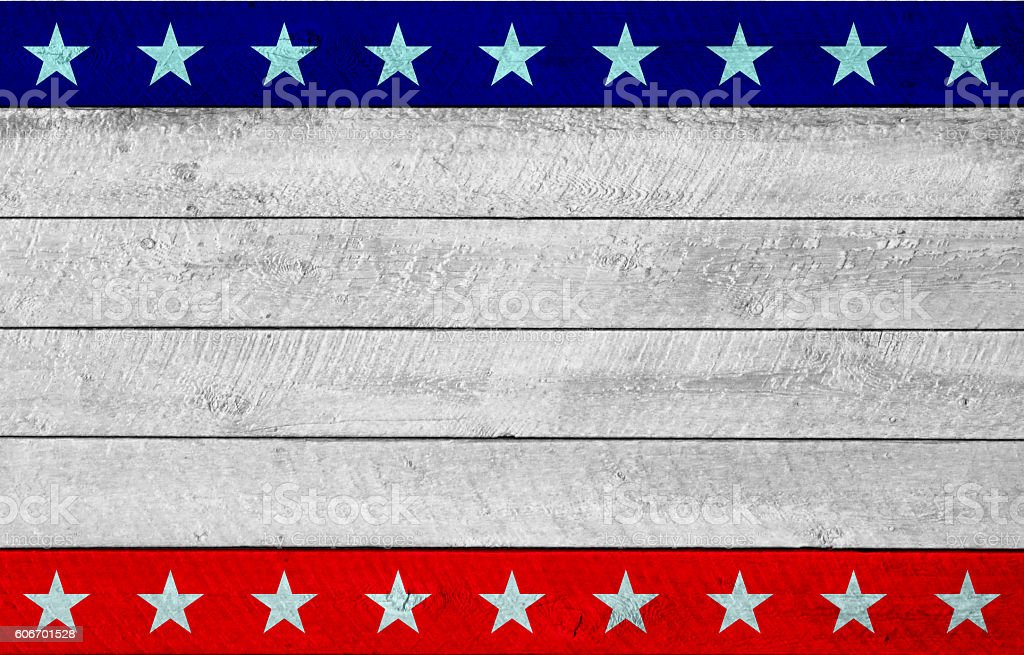 US Patriotic wooden background stock photo