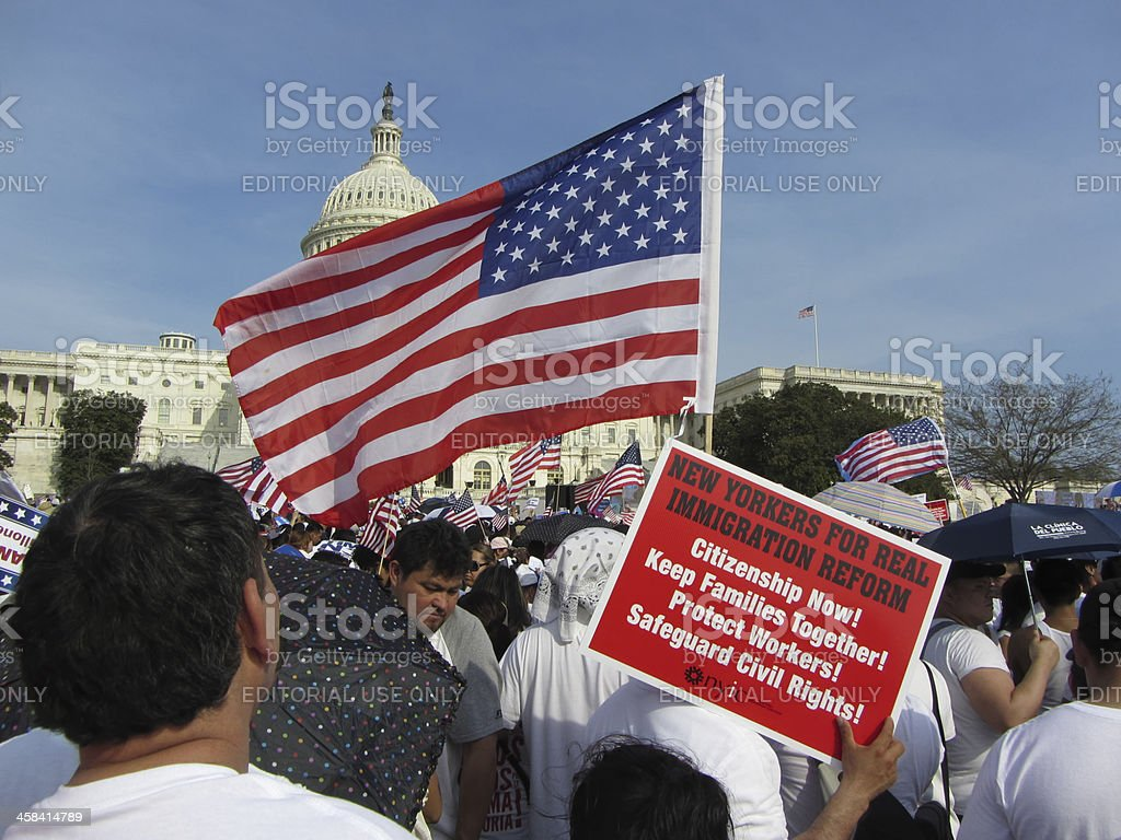 Patriotism and Immigration Reform royalty-free stock photo