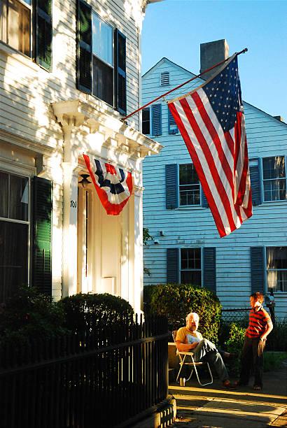 Patriotism on display stock photo