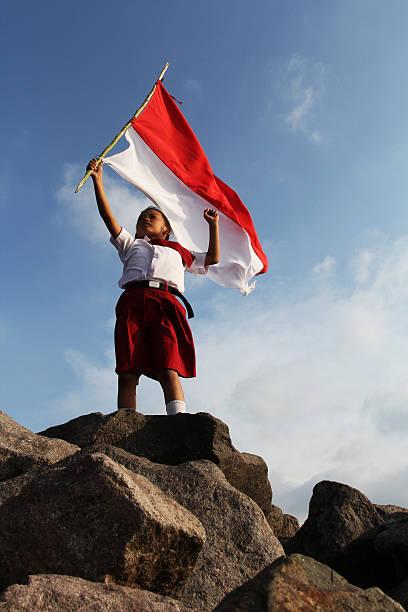 patriotismo - bandeira da indonesia - fotografias e filmes do acervo