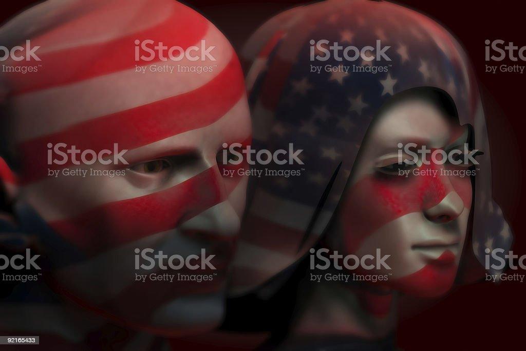 USA Patriotism royalty-free stock photo