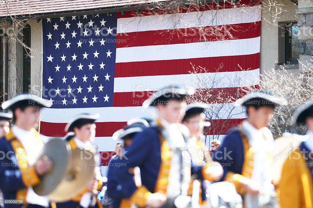 Patriot's Day Parade stock photo
