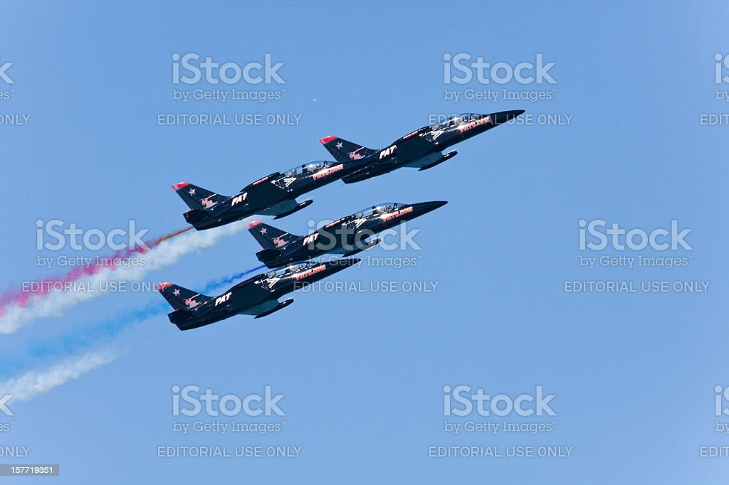 Patriots Jet Team royalty-free stock photo