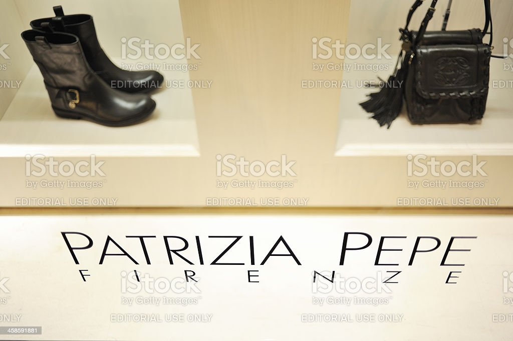 Patrizia Pepe Fashion Store royalty-free stock photo