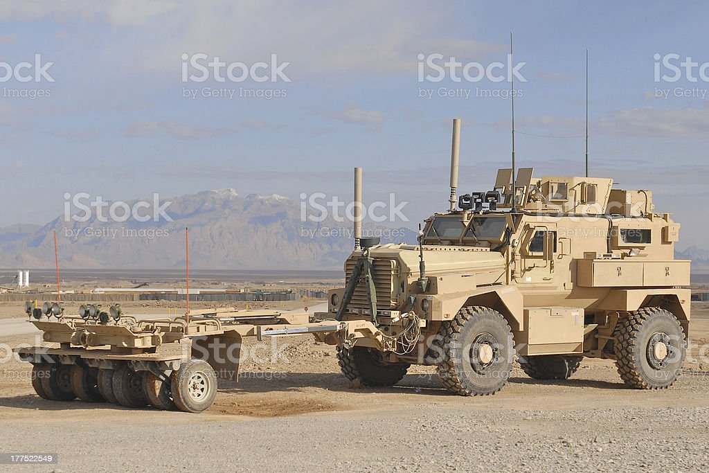 IED Patrol Afghanistan stock photo