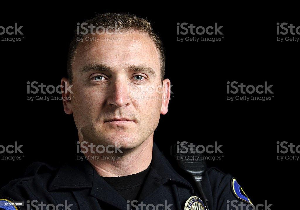 patrol officer stock photo