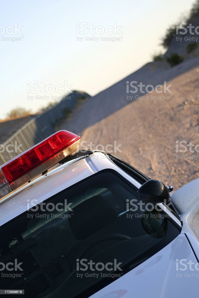 Patrolling the Fence Line royalty-free stock photo