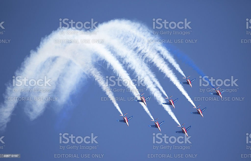 Patrouille de France aerobatic display team royalty-free stock photo