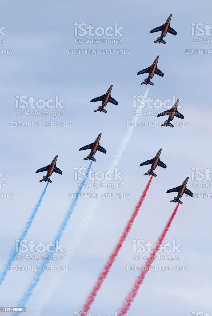 Patrouille de France stock photo