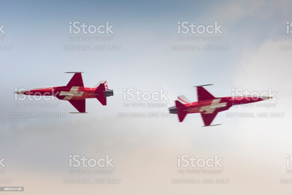 Radom Poland August 22 Patrouille Suisse Aerobatic Display