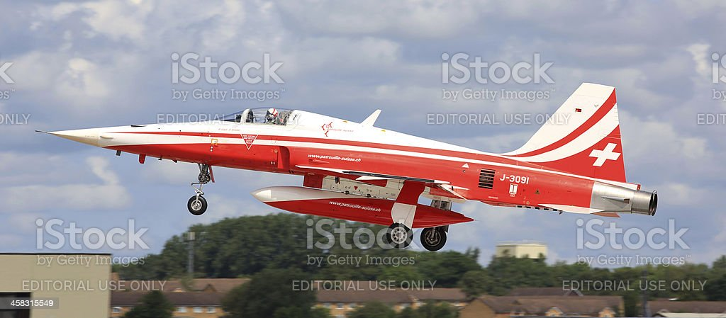 Patrouille Suisse aerobatic team stock photo
