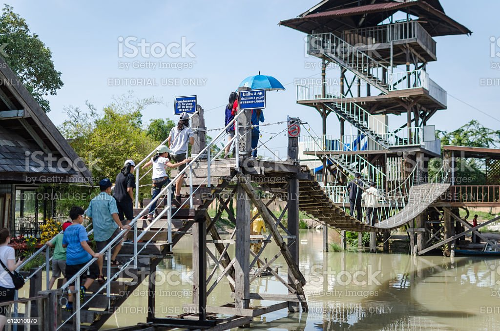 Pattaya Floating Market stock photo