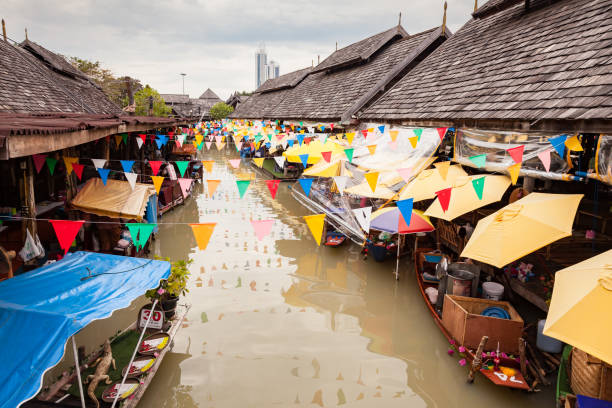 Pattaya Floating Market Thailand stock photo