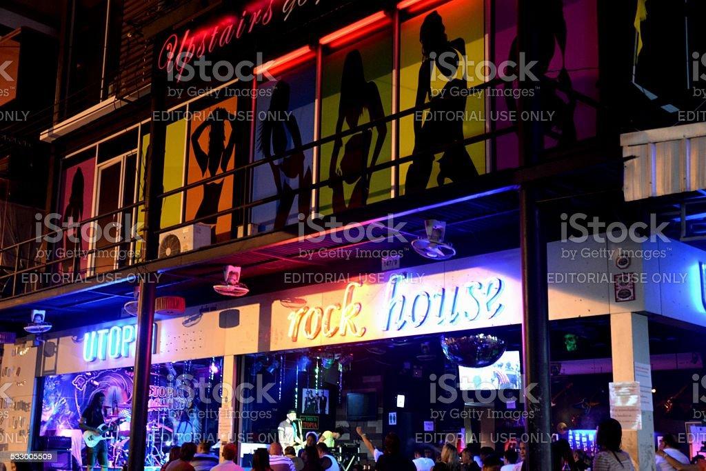 Pattaya rock bar, Thailand stock photo