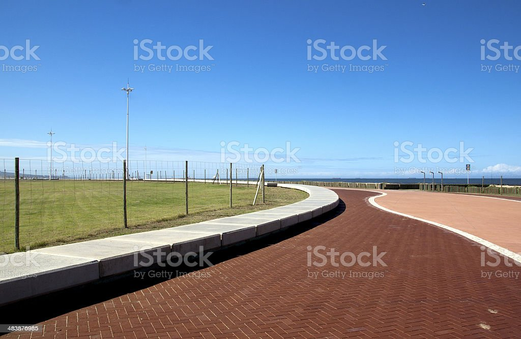 pattern and textures on Beach Promenade landscape royalty-free stock photo