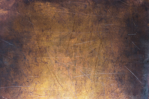 Vintage copper texture, bronze metal surface background