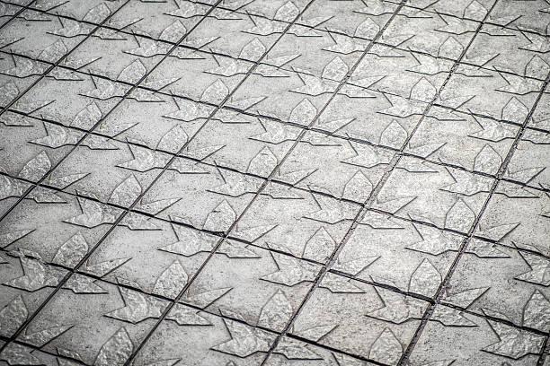 pattern detail in a sidewalk in barcelona catalonia - carlosanchezpereyra fotografías e imágenes de stock