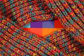 multicolored woolen soft texture.