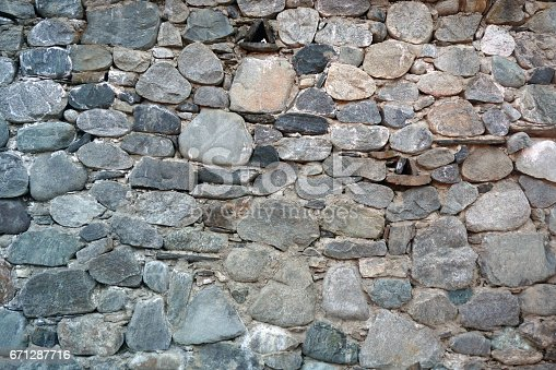 973649382istockphoto pattern gray color of real stone wall surface with cement 671287716