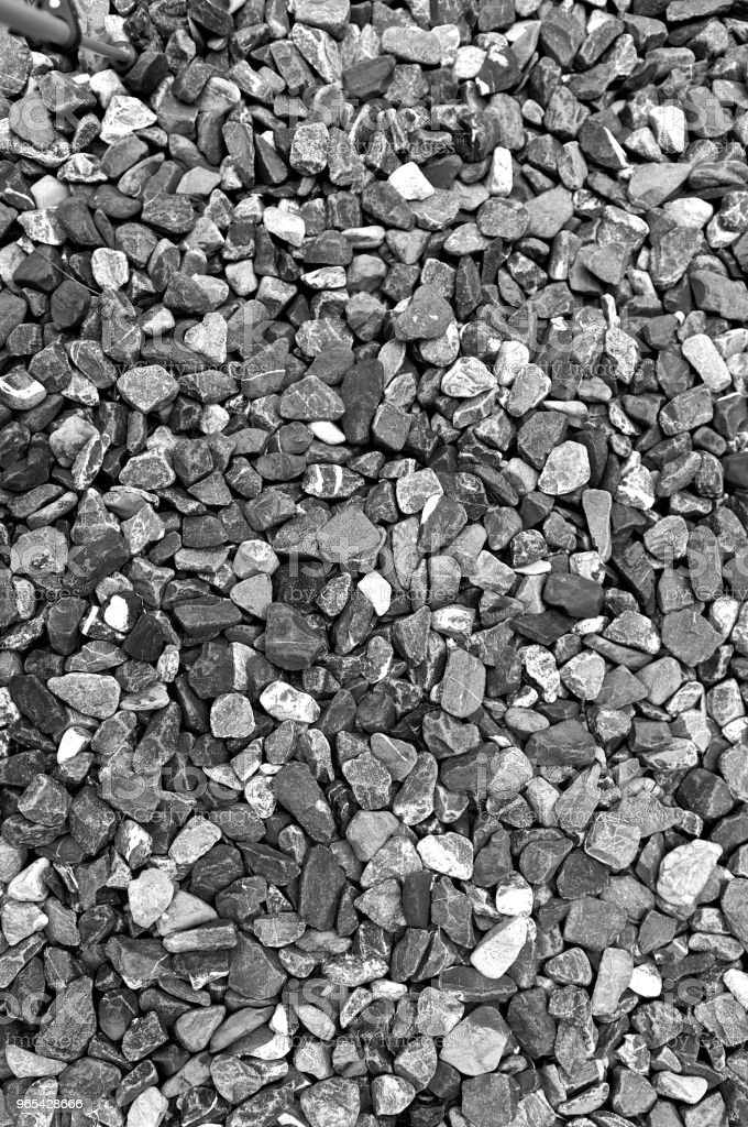 Pattern grey gravel granite texture background for mix rock concrete pattern in construction industrial. Small gray pebble on ground or floor. Vintage and retro. Close up. zbiór zdjęć royalty-free