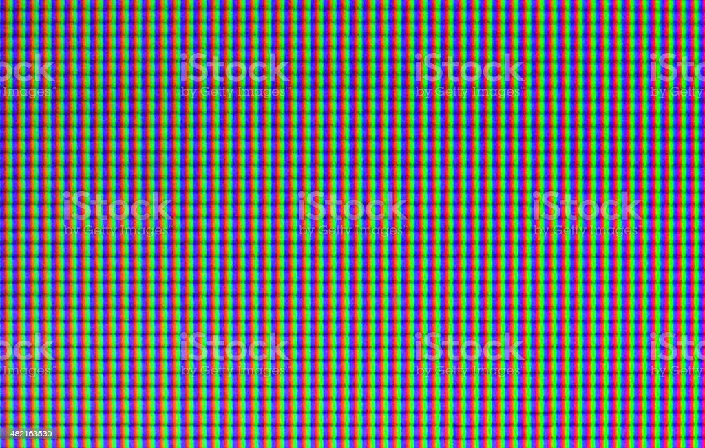 RGB pattern - LCD pixel macro stock photo