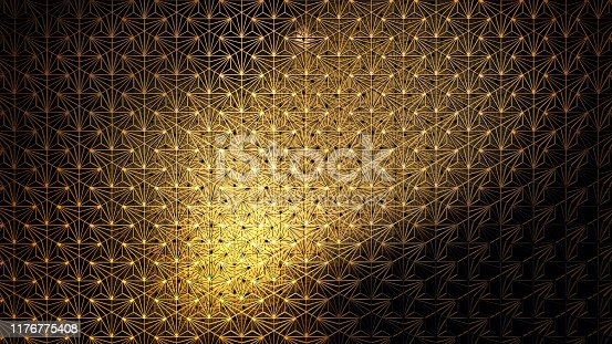 istock Pattern Moving For Decoration Style Gatsby Art Deco 1176775408