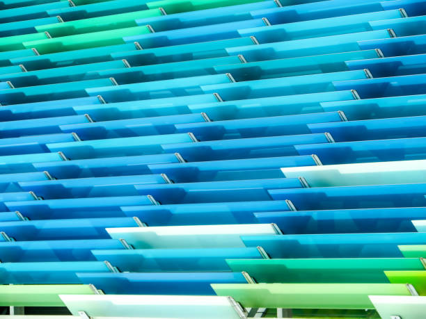 pattern of acrylic sheets interior outdoor stock photo