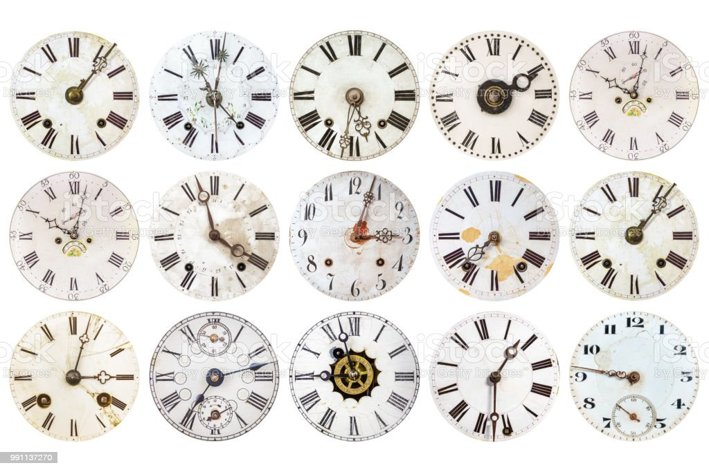 Patrón de relojes antiguos erosionados - foto de stock
