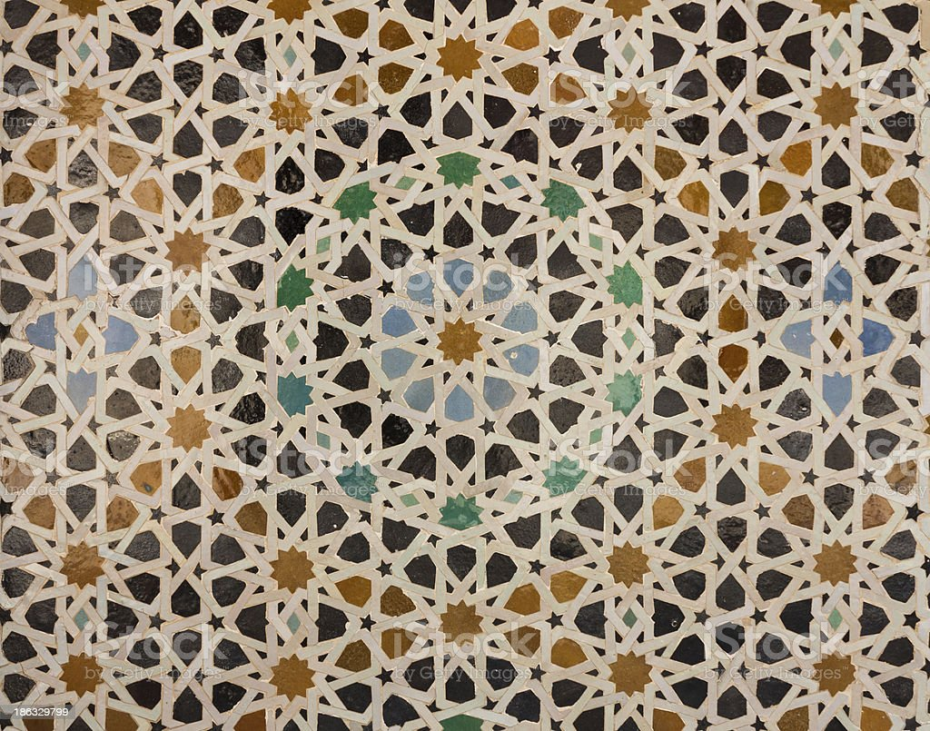 Pattern of arabic tiling or mosaic royalty-free stock photo
