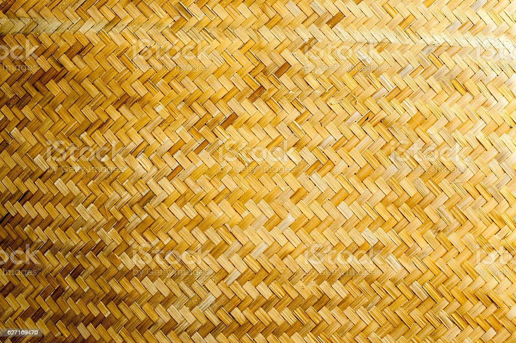 pattern of bamboo weave background stock photo