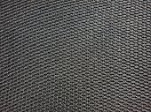 Pattern of black mesh fabric.