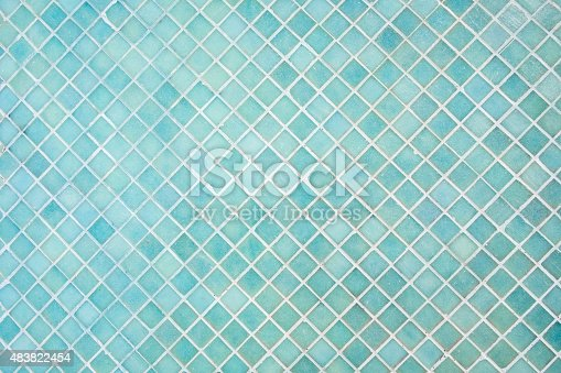 istock Pattern of blue square mosaic 483822454