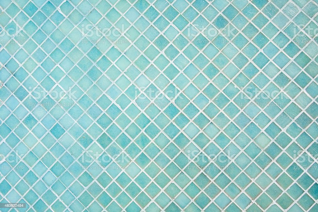 Pattern of blue square mosaic stock photo