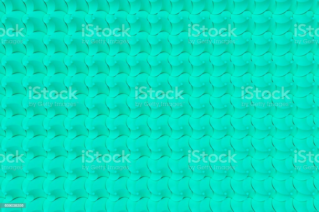 Pattern of blue twisted pyramid shapes royalty-free stock photo