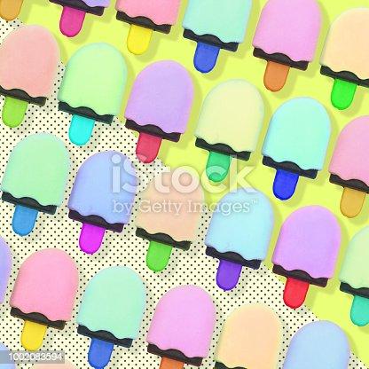 964258970 istock photo Pattern of colorful ice cream. 1002083594