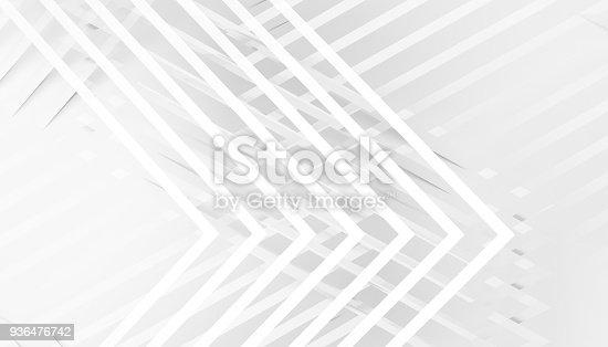 927319980 istock photo Pattern of corners 3d render 936476742