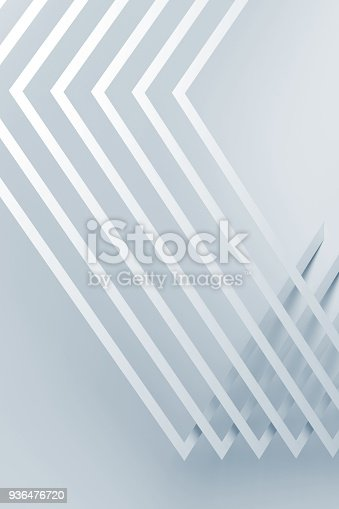 927319980 istock photo Pattern of corners with soft shadows. 3 d 936476720
