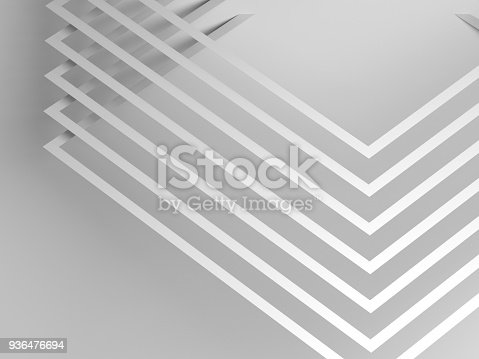 927319980 istock photo Pattern of corners with soft shadows. 3d 936476694