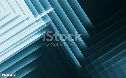 istock Pattern of glowing stripes. 3d illustration 962452872