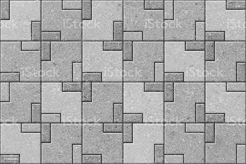 Pattern of gray sidewalk pavers stock photo
