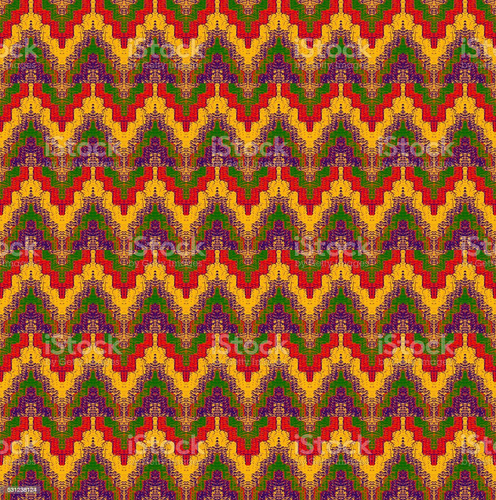 pattern of interweaving shapes and lines with fabric texture stock photo