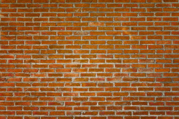 Pattern of old brick wall for background and textured stock photo