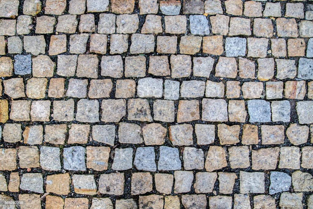 pattern of old cobble stone street royalty-free stock photo