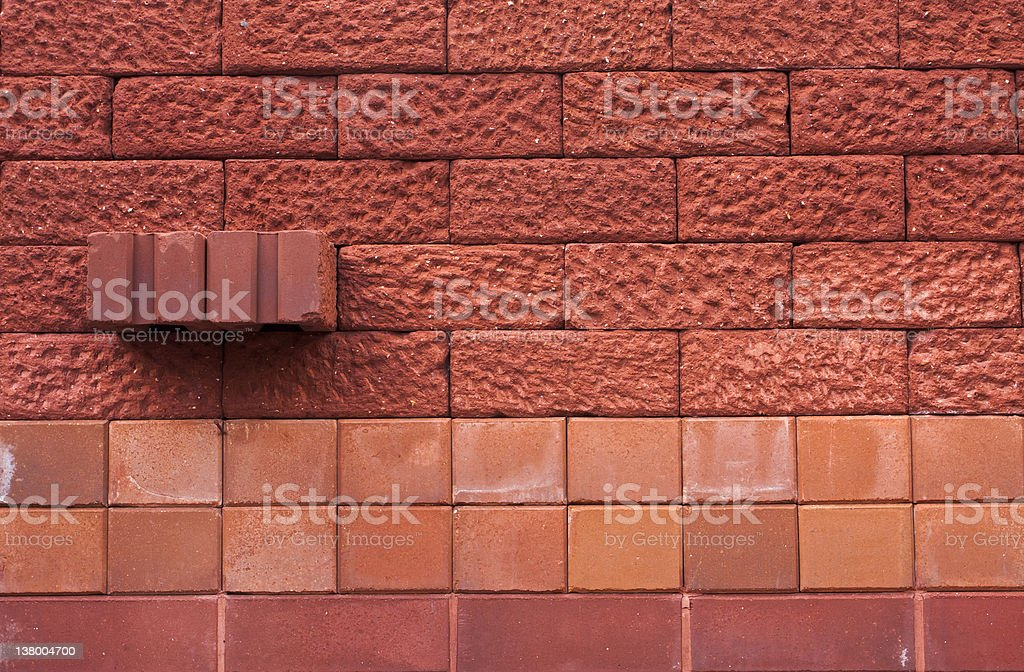 pattern of old red brick wall background royalty-free stock photo