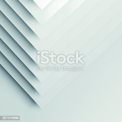 istock Pattern of paper corners. Square 3d render 927319996