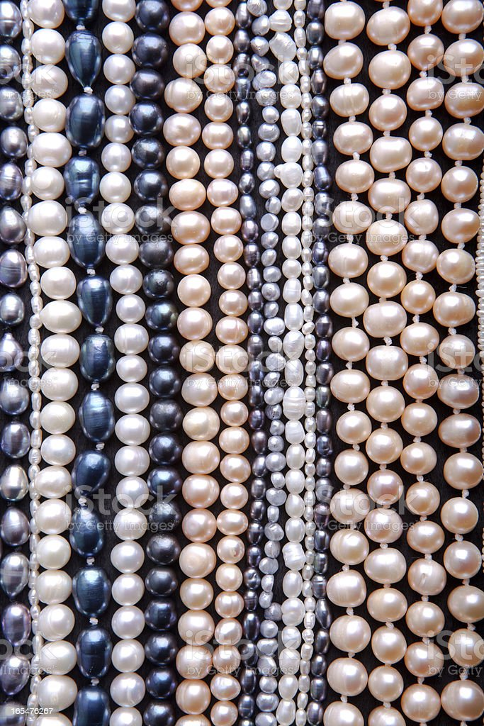 Pattern of pearls royalty-free stock photo