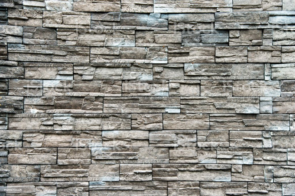 Pattern of real stone wall stock photo