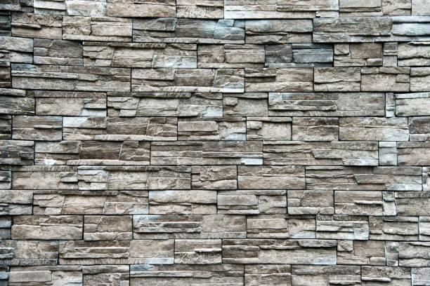 muster aus echtem stein wand - schiefer fliesen stock-fotos und bilder