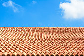 Pattern of roof with wonderful sky on sunshine day