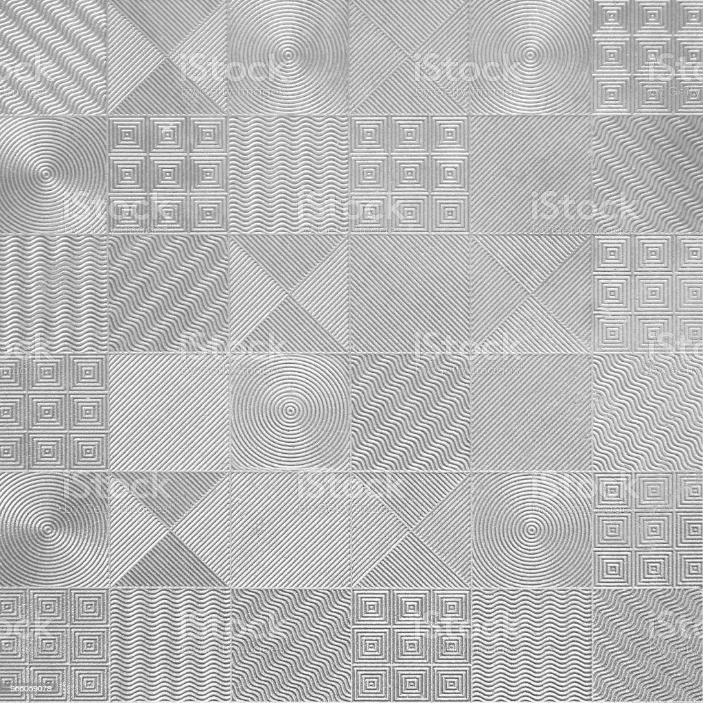 Muster der silbernen Fliesen - Lizenzfrei Abstrakt Stock-Foto